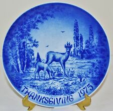 Bareuther & Co Collector's Plate, Bavaria, Germany -- THANKSGIVING 1975