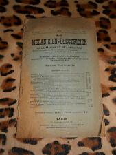 Le mécanicien-électricien de la marine et de l'industrie n° 1, 1917