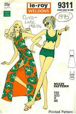 1960s Vintage Sewing Pattern B34-40 DRESS - BIKINI (1875) Barbara Hulanicki Biba
