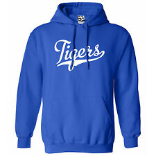 Tigers Script & Tail HOODIE - Hooded School Sports Team Sweatshirt - All Colors