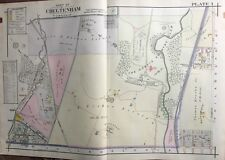 1916 A.H. Mueller Montgomery County, Pa, Curtis Country Club Copy Plat Atlas Map