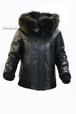 Ladies Black Leather Jacket 100% REAL LAMB LEATHER