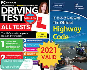 Driving Theory Test & Hazard PC-DVD-ROM 2021 AND Highway Code