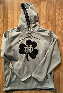 Notre Dame Football Team Issued Under Armour Hooded Sweatshirt XL