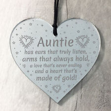 Auntie Gifts For Birthday Christmas Hanging Heart Plaque Special Sister Gift
