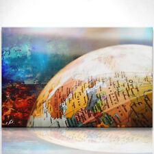 Bild mit Weltkugel Wohnzimmer Leinwand Abstrakt Bilder Wandbild Kunstdruck D0133