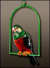Sergio Bustamante Original Painted Sculpture Signed Acrylic Painting Parrot Art