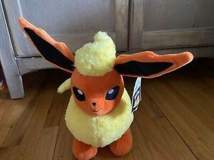 "NWT Build A Bear FLAREON 15"" Plush Pokemon w/ voice box SOLD OUT"