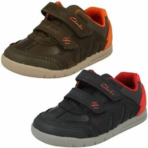 Infant Boys Clarks Claw Detail Hook & Loop Leather & Synthetic Shoes Rex Play T