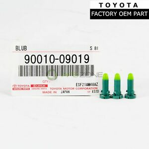 FACTORY TOYOTA 4RUNNER 2003-2009 COOLER CONTROL SWITCH BULB QTY3 OEM 90010-09019