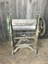 Victorian Cast Iron Vintage Worn Mangle Shop Display Garden Art