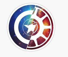 Civil War Captain America Iron Man MARVEL shield Sticker decal car laptop cute