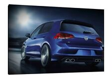 VW Golf R - 30x20 Inch Canvas Art - Volkswagen Framed Picture Print
