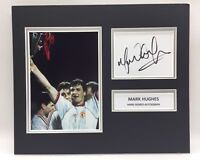 RARE Mark Hughes Manchester United Signed Photo Display + COA AUTOGRAPH MAN UTD