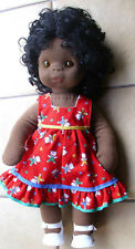 Puppe Stupsi ca. 38cm groß dunkel Farbe  unbespielt