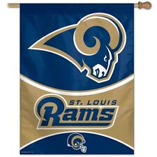 NEW $25 St. Louis Rams Wincraft NFL 27x37 Banner Vertical Flag FREE SHIPPING