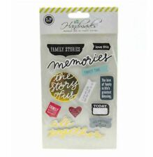 Sticker Embellishment with Double Sided Tape (MEMORIES)
