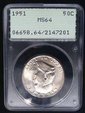 USA 1951 Philadelphia Half Dollar PCGS MS64 Silber Selten White 2912