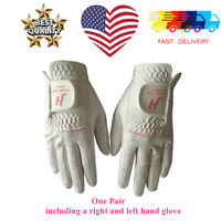 Women's Golf Gloves Pair Rain Grip Ladies Left Right Hand Small Large Lh Pr USA