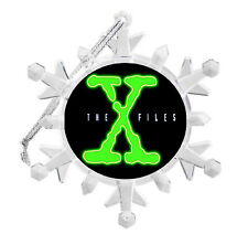 The X-File TV Show Snowflake Blinking Light Holiday Christmas Tree Ornament