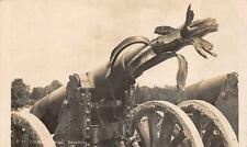 RPPC WWI GERMANY GERMAN GUN DESTROYED MILITARY REAL PHOTO POSTCARD (c. 1918)