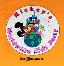 Brand New, Never Worn WDW Mickey's Worldwide Kids Party T Shirt, XL