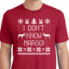 TODD & MARGO Couples T-shirt Christmas and Vacation Matching Ugly Sweater Tee