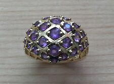 Gorgeous Genuine Multi-GemStone Amethyst Cocktail Ring #7 New