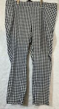 The Limited Women Size 22W Stretch Cropped Ankle Black/White Checkered Pants
