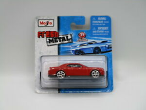 Maisto Fresh Metal Red 2008 Dodge Challenger SRT8 1:64 Diecast New On Card