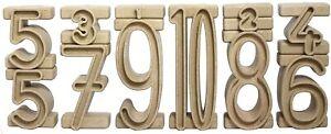 WISSNER® aktiv lernen - Satz aus 34 Stapelzahlen aus RE-Wood