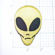 Yellow Alien Head Iron-on Vintage Patch Area 51 for Jacket Hat Biker Shirt UFO