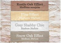WOOD EFFECT CUSTOM-MADE DOOR SIGN Personalised Blank Plaque: Add Your Own Text