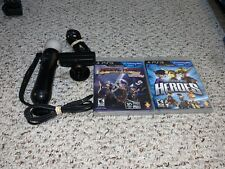 PlayStation 3 4 PS3 PS4 Move Motion Controller & Camera w/ Games Lot CECH-ZCM1U