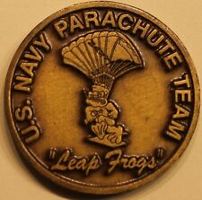 Navy SEAL US Naval Parachute Team Leap Frogs Vintage Brass Challenge Coin
