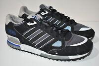 Mens Adidas Originals ZX750 Trainers Shoes Black Grey Blue UK 11 US 11.5 EU 46