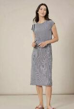 Joules Womens Alma Jersey Midi Dress - Navy Cream Stripe Size 16