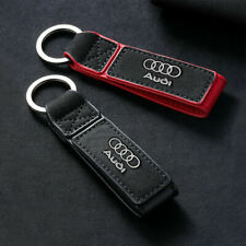New Frosted Leather Car Auto Audi Key Chain Key Ring Holder Fit For Audi