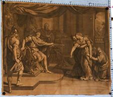 VINTAGE ENGRAVING OF A ANCIEN GREEK SCENE circa 1790