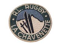 Ralph Lauren Rugby Polo La Chavenette Ski Jacket Coat Blue Felt Bag Patch