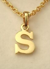 GENUINE  9K  9ct  SOLID  GOLD  INITIAL  S  LETTER  PENDANT