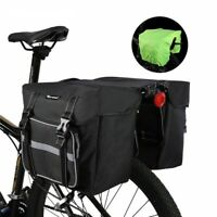 25L Bicycle Rear Seat Double Pannier Bag With Rain Cover MTB Road Bike Bag