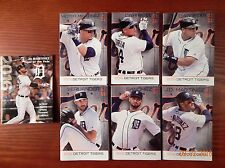 (7) Different 2016  Detroit Tigers Schedules Miggy JD JV V-Mart