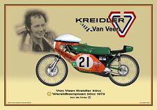 Greetings card Van Veen Kreidler 50cc 1973 #21 Jan de Vries WC Version 2