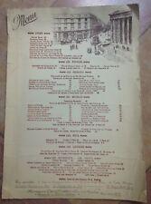 Menu Restaurant LUCAS CARTON à PARIS Non daté (vers 1980)