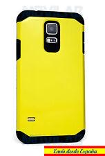Funda carcasa Samsung G900 Galaxy S5 Antigolpes Slim Armor tipo Spigen amarilla