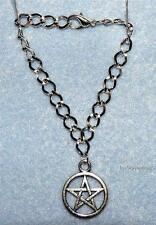 SILVER PLATED PENTAGRAM BRACELET, Wicca, Witchcraft, Protection Symbol