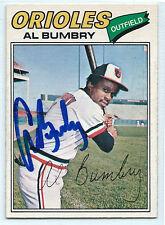 Al Bumbry signed 1977 O-Pee-Chee OPC baseball Baltimore Orioles autograph #192