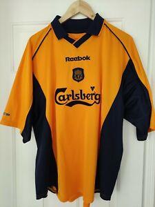 Liverpool Away Shirt Reebok Carlsberg 2001 2002 FA Cup final size 46/48 inches
