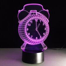 3D illusion Visual Night Light 7 Colors Change LED Desk Lamp Bedroom Decor ff